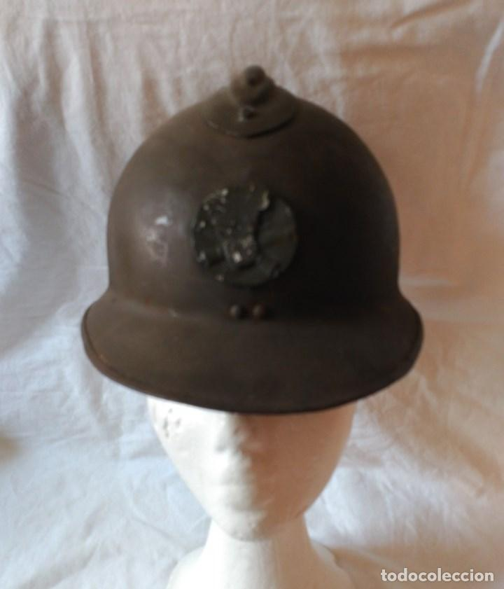 Militaria: CASCO FRANCÉS ADRIAN Mod. 1926. DE ARTILLERÍA. - Foto 2 - 123038235