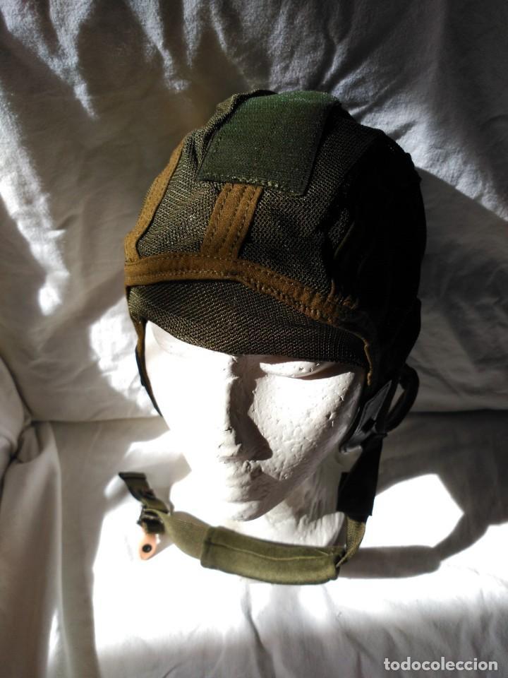 CASCO INTERIOR PARA CASCOS DE TRIPULANTES DE CARRO DE COMBATE. NUEVO A ESTRENAR. (Militar - Cascos Militares )
