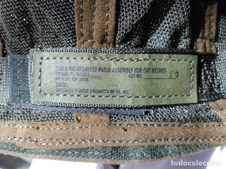 Militaria: CASCO INTERIOR PARA CASCOS DE TRIPULANTES DE CARRO DE COMBATE. NUEVO A ESTRENAR. - Foto 4 - 124091883