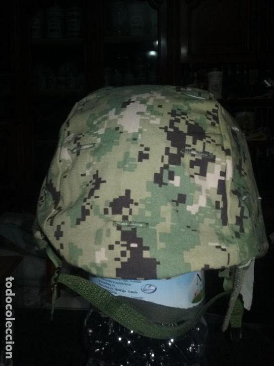 USN. US NAVY. FUNDA DE CASCO TIPO III. TALLA GRANDE. ORIGINAL (Militar - Cascos Militares )