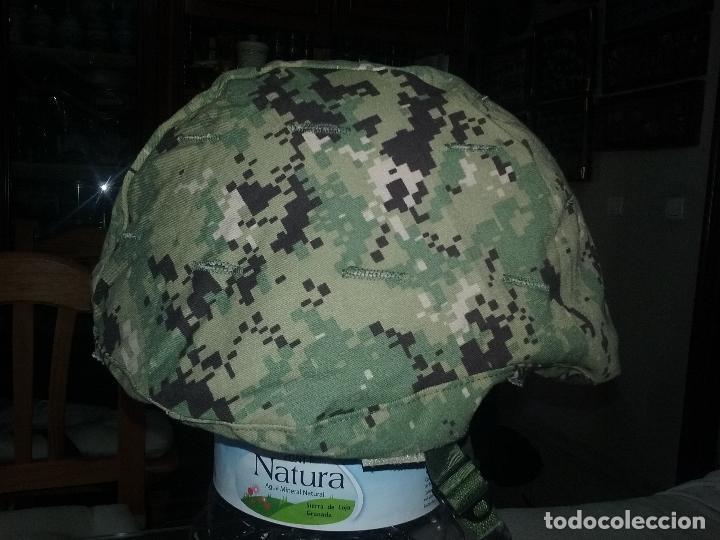 Militaria: USN. US NAVY. FUNDA DE CASCO TIPO III. TALLA GRANDE. ORIGINAL - Foto 2 - 130303883