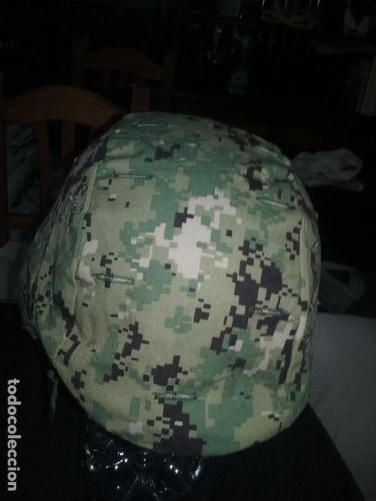 Militaria: USN. US NAVY. FUNDA DE CASCO TIPO III. TALLA GRANDE. ORIGINAL - Foto 3 - 130303883