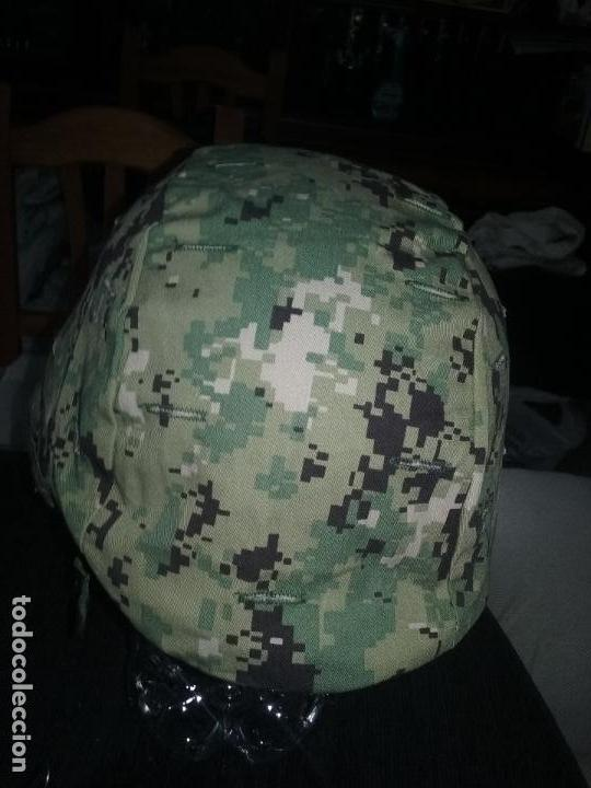 Militaria: USN. US NAVY. FUNDA DE CASCO TIPO III. TALLA GRANDE. ORIGINAL - Foto 4 - 130303883