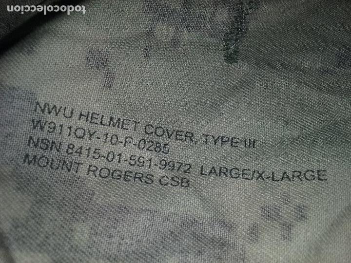 Militaria: USN. US NAVY. FUNDA DE CASCO TIPO III. TALLA GRANDE. ORIGINAL - Foto 6 - 130303883