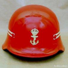 Militaria: CASCO SERVICIO CONTRA INCENDIOS ROYAL NETHERLANDS NAVY - ARMADA HOLANDESA - AÑOS 70/80 - BOMBEROS. Lote 126778555