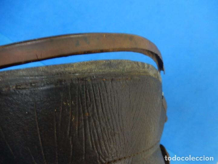 Militaria: Antiguo casco de bomberos. Metal y cuero. - Foto 40 - 128043851