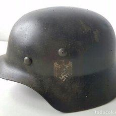 Militaria: CASCO DE WEHRMACHT ,M35 NEGRO ,TERCER REICH , SUPER BONITO. Lote 128395435