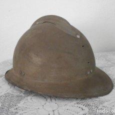 Militaria: II SEGUNDA GUERRA MUNDIAL GUERRA CIVIL ESPAÑOLA ANTIGUO CASCO MILITAR EJERCITO FRANCÉS ADRIAN. Lote 128745347