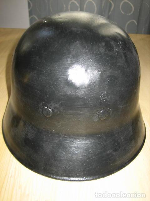 Militaria: Reproducción casco aleman M-34, policia del fuego, segunda guerra mundial. - Foto 4 - 129494395