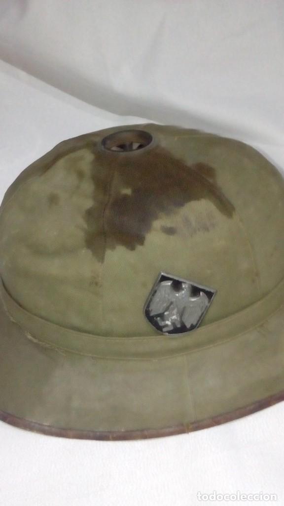 Militaria: Salacot del Afrikakorps. Primer modelo de la Wehrmacht - Foto 2 - 130875332