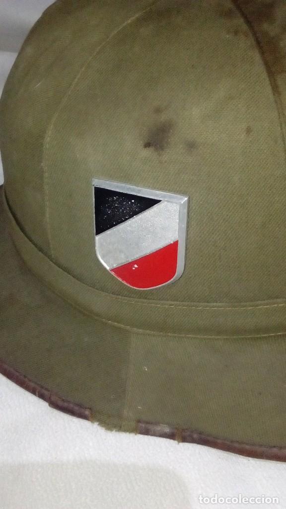Militaria: Salacot del Afrikakorps. Primer modelo de la Wehrmacht - Foto 3 - 130875332