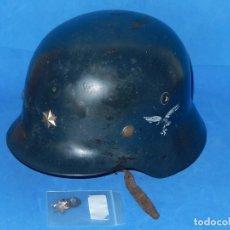 Militaria: CASCO ALEMÁN. MODELO M 35. DE LOS UTILIZADOS EN ESPAÑA, MODIFICADO Y REPINTADO.. Lote 132260630