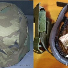 Militaria: OFERTA. FUNDA DE CASCO MAS RECAMBIO DE ATALAJE CASCO MARTE 4. Lote 180176178