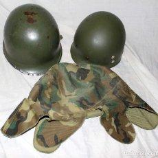 Militaria: CASCO EEUU M1 ¿ VIETNAM ? COMPLETO 3 PIEZAS. Lote 135486318