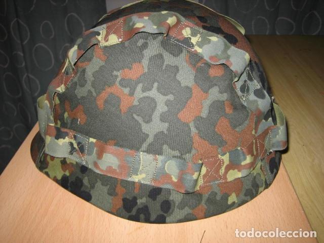 Militaria: Casco militar polaco WZ50,con funda camo. - Foto 4 - 137439086