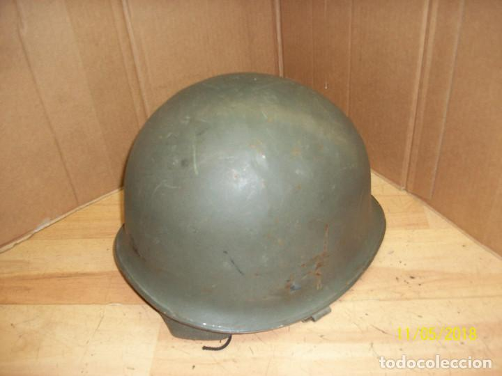Militaria: CASCO MILITAR CON BARBUQUEJO - Foto 2 - 139067366