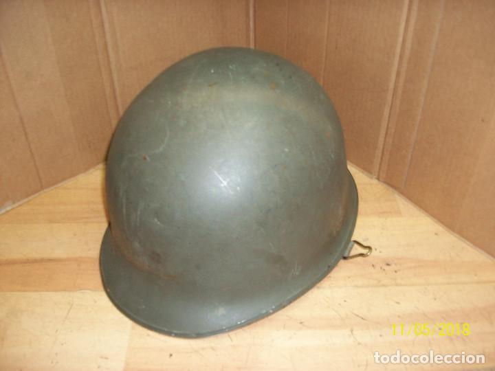 Militaria: CASCO MILITAR CON BARBUQUEJO - Foto 3 - 139067366