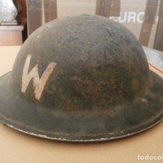 Militaria: CASCO MILITAR EJERCITO BRITÁNICO INGLÉS II SEGUNDA GUERRA MUNDIAL AÑO 1941 MODELO HELMET STEEL MKII. Lote 140439994