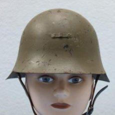 Militaria: CASCO TRUBIA MODELO 38 AZAÑA ( GUERRA CIVIL ) CON AGUILA. Lote 140461190