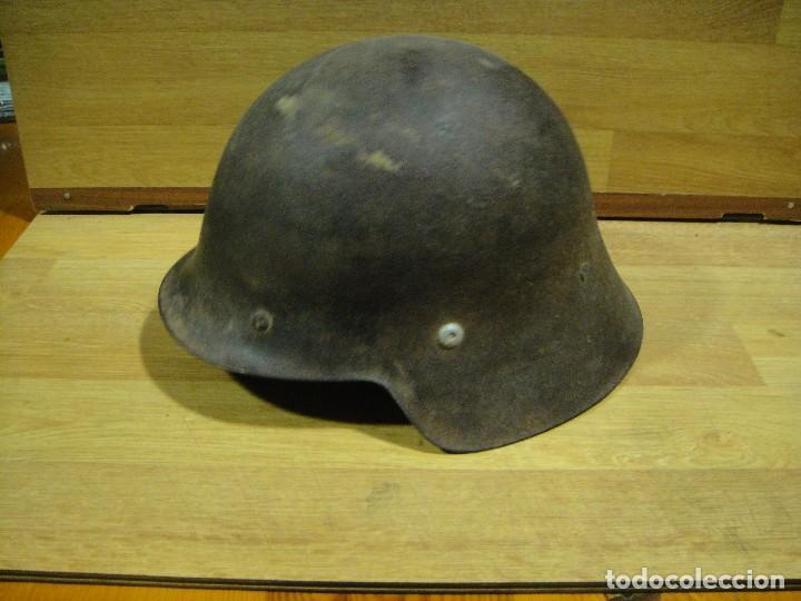 AUTENTICO CASCO DE LA GUERRA CIVIL - FRENTE DE TERUEL (Militar - Cascos Militares )