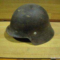 Militaria: AUTENTICO CASCO DE LA GUERRA CIVIL - FRENTE DE TERUEL. Lote 142221538