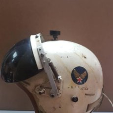 Militaria: CASCO PILOTO DE CAZA NAVAL ESTADOUNIDENSE HELICÓPTERO JET ERA VIETNAM. Lote 145606842