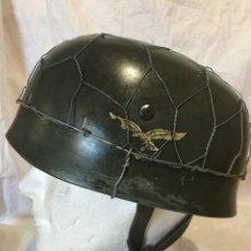 Militaria: REPRODUCCIÓN EN ACERO DE CASCO PARACAIDISTA ALEMÁN II GUERRA MUNDIAL.. Lote 145983166