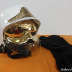 Militaria: CASCO FRANCES DE BOMBERO CON COMPLEMENTO INTERIOR. Lote 207591795