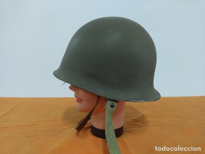 Militaria: CASCO FRANCES M51 TIPO M1 AMERICANO - Foto 3 - 147593722
