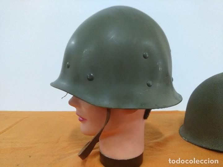 Militaria: CASCO FRANCES M51 TIPO M1 AMERICANO - Foto 4 - 147593722