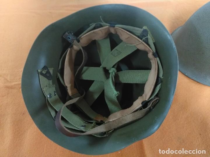 Militaria: CASCO FRANCES M51 TIPO M1 AMERICANO - Foto 5 - 147593722