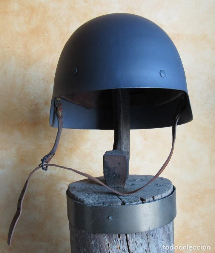 Militaria: CASCO ESPAÑOL TRUBIA, MODELO 1926, O MODELO SIN ALA, 2ª REPUBLICA Y GUERRA CIVIL ESPAÑOLA 1936/1939. - Foto 3 - 150883174