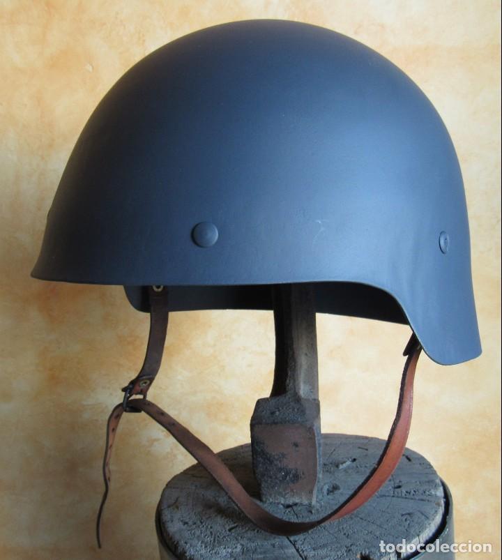 Militaria: CASCO ESPAÑOL TRUBIA, MODELO 1926, O MODELO SIN ALA, 2ª REPUBLICA Y GUERRA CIVIL ESPAÑOLA 1936/1939. - Foto 6 - 150883174