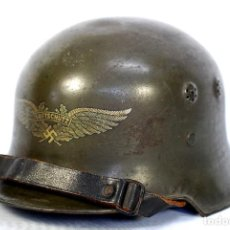 Militaria: CASCO ALEMÁN DE LA LUFTSCHUTZ ESPECIFICO PARA PROTECCIÓN DE INSTALACIONES FLUVIALES. Lote 151172306