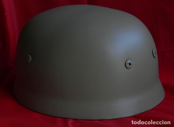 Militaria: Repro - Casco aleman Sprinferhelm M 38 FJ - Fallschirmjáger - Color Africakorps - Paracaidistas - - Foto 3 - 154529682