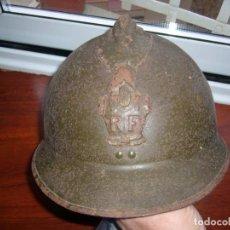 Militaria: CASCO FRANCÉS MODELO ADRIAN DEL AÑO 1926 DEL ARMA DE INGENIEROS. COMPLETO SIN BARBOQUEJO. Lote 155017498