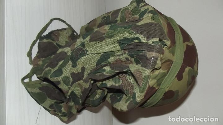 Militaria: Funda de casco mosquitera americana M-1 segunda guerra mundial corea y vietnam - Foto 2 - 158973082