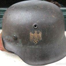 Militaria: ALEMANIA III REICH, CASCO M42 TOTALMENTE ORIGINAL. 1 CALCA.. Lote 158971718
