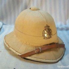 Militaria: SALACOT, CASCO COLONIAL DE LAS TROPAS DE BÉLGICA EN EL CONGO. MUY RARO.. Lote 161129330