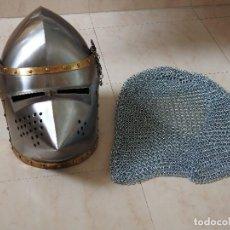 Militaria: YELMO DEL S. XIV Y ALMÓFAR . Lote 162389438