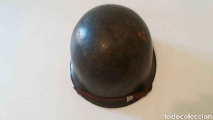 Militaria: CASCO MILITAR FRANCES M51 - AÑO 1959 - Foto 3 - 162435702