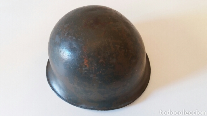 Militaria: CASCO MILITAR FRANCES M51 - AÑO 1959 - Foto 4 - 162435702