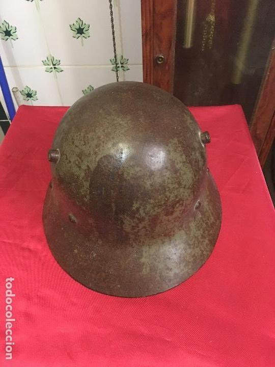 Militaria: Escaso Casco de la Guerra Civil Española - fabricación checa - descubierto en la provincia Castellón - Foto 2 - 163454990