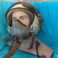 Militaria: CASCO PILOTO SOVIETICO ZSH.5A CON MASCARA DE OXÍGENO. Lote 166663453