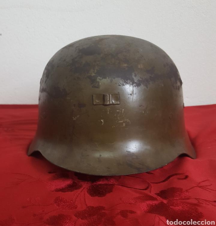 Militaria: CASCO MILITAR Z42 CON BARBUQUEJO - Foto 3 - 192988890