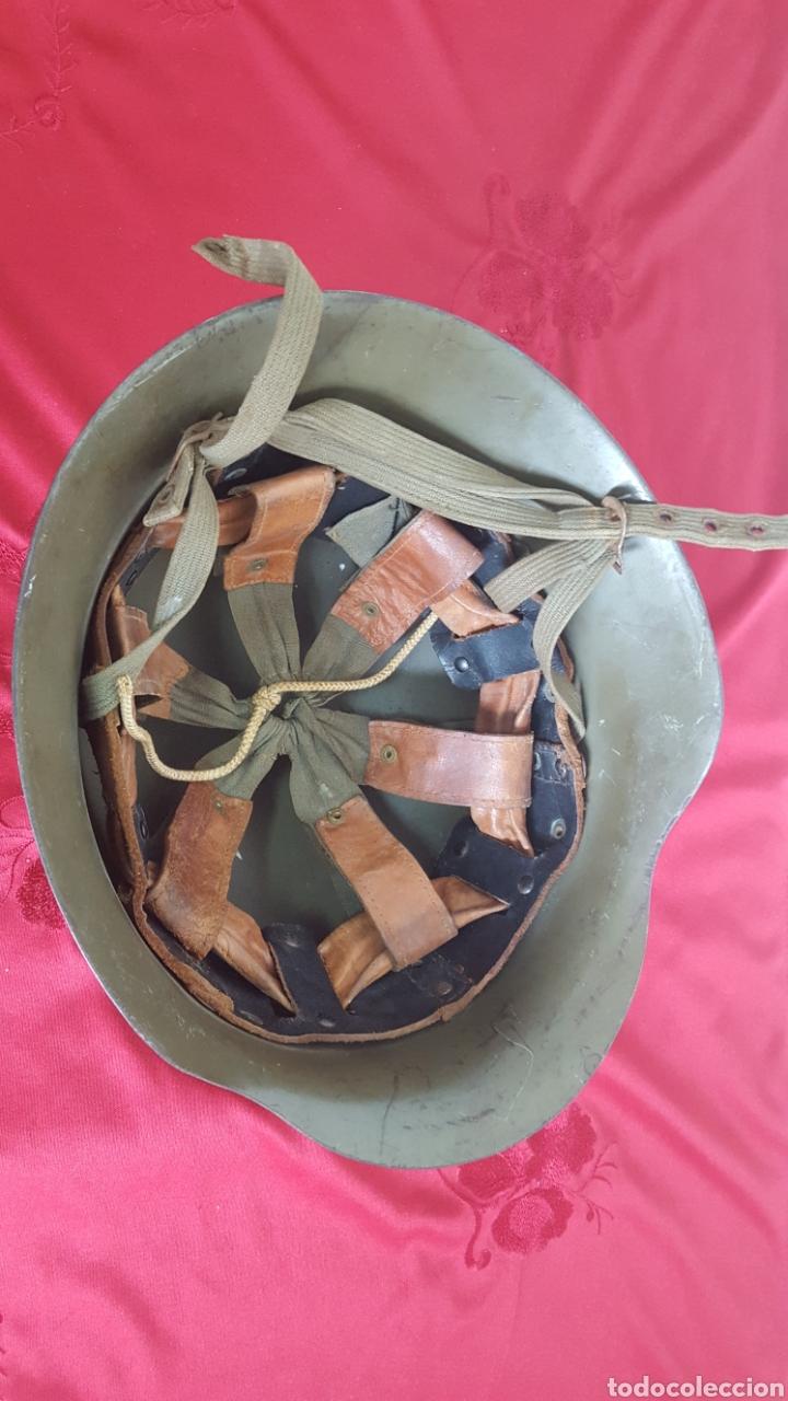 Militaria: CASCO MILITAR Z42 CON BARBUQUEJO - Foto 6 - 192988890