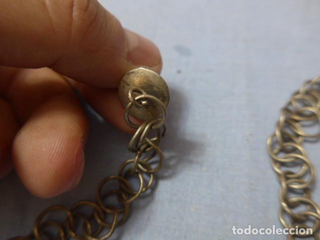 Militaria: * Antiguo barbuquejo cadena para casco de pincho o caballeria, original. ZX - Foto 2 - 168393152