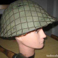 Militaria: CASCO MILITAR INGLES MK-IV, CON RED CAMO.. Lote 169095121