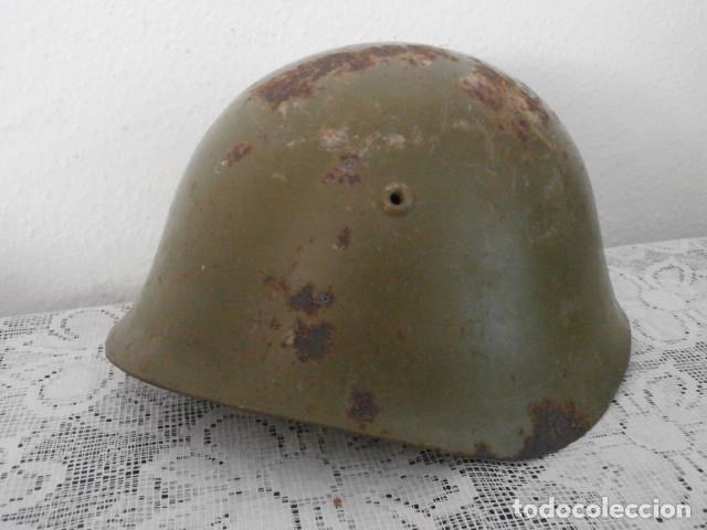 ANTIGUO CASCO MILITAR EJERCITO ITALIANO II SEGUNDA GUERRA MUNDIAL M33 AÑO 1934 GUERRA CIVIL ESPAÑOLA (Militar - Cascos Militares )