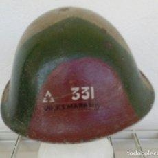 Militaria: OLLA DE CASCO MK-III BRITÁNICO, MARK III, BARBOQUEJO DE TELA. 'TORTUGA'. CAMUFLAJE EJÉRCITO INDIO. Lote 171262534